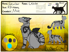 [WoTF] Falconstar |9 lives|Windclan| *UPDATED* by Virtue-Of-The-Stars