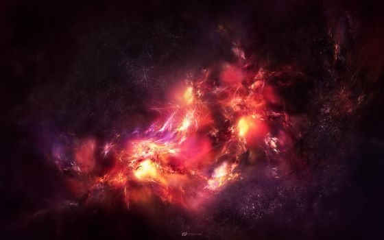 Cosmic Core Space Wallpaper by Senthrax