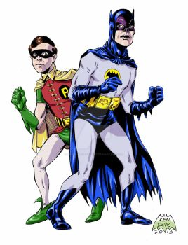 Batman and Robin for Punch #5 by kendaviscartoons