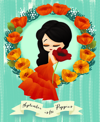 September is for Poppies by Ikupoo