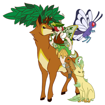 Aven and Forest Pokemon by otakugal15