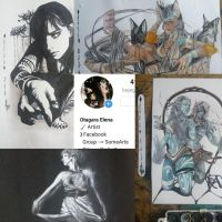 Collage of my draws by ElenaChiyan