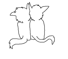 Warrior Cats Couple Lineart by GrowlitheArtistGirl
