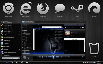Windows 7 theme my theme by irahul