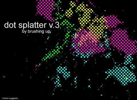 Dot Splatter vol3 by motion-suggests