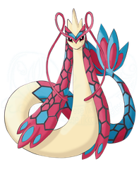 Mega Milotic by Taez