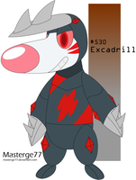 Robot Pokemon Challenge Day 6: Excadrill by Masterge77