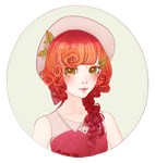 Rose-haired Girl by Scandier