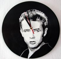 James Dean on vinyl record clock by vantidus