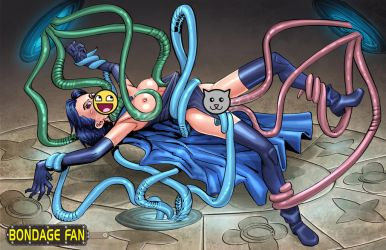 Tentacle-twined Titan by bondage-fan-comics