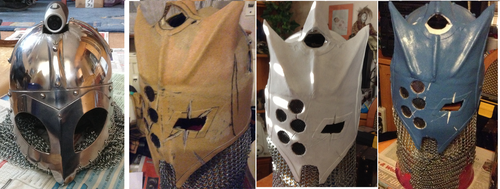 WIP Picture of the Warhammer Chaos Marauder Helmet by Warsmith-Gryndal