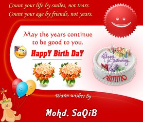 B'day Greeting for my friend by designsmart