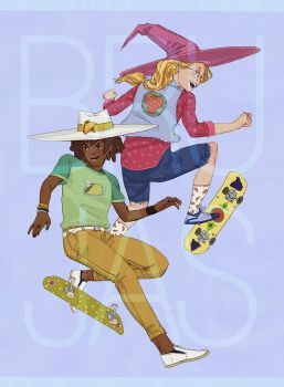 Skating Witches by Aragah