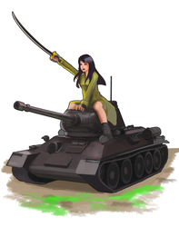 The Girl and the Tank! by MrTenacious01
