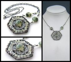 green garnet necklace by annie-jewelry