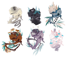 Fluffy plant babies adoptables (ALL GONE) by Shegoran