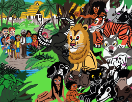 The Jungle Book Peaceable Kingdom by tcr11050