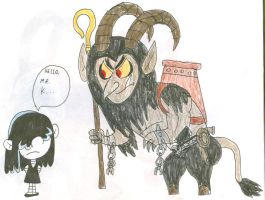 Lucy and Krampus by SithVampireMaster27