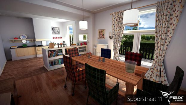 Spoorstraat 11 - Kitchen by FibixStudio