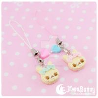 Cookie friends Cell Phone Straps (BFF SET) 2 by CuteMoonbunny