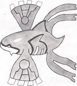 Kyogre Pencil Sketch by Rpshadow100
