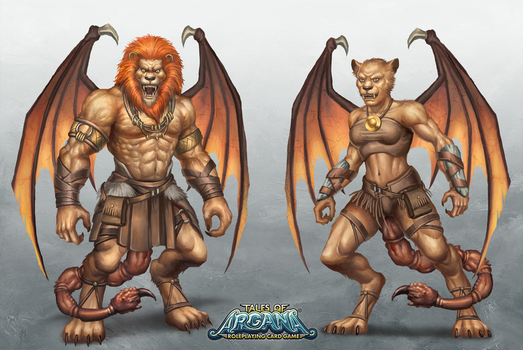 Tales of Arcana: Manticore by HappySadCorner