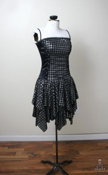 Casting Shadows silver houndstooth gothic dress by smarmy-clothes