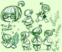 SKY VILLAGE: Lune sketches by zimra-art