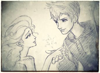 Elsa and Jack by torokun