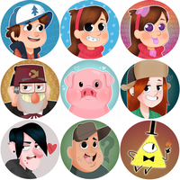 Gravity Falls Fan Arts by Minweln
