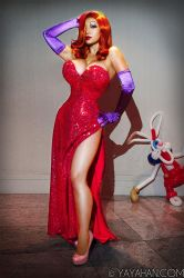 Jessica Rabbit (and Roger!) by yayacosplay