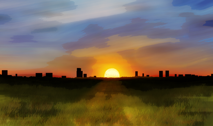 Sunset Paint by BenGrunder
