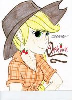 Humanized Applejack by The1King