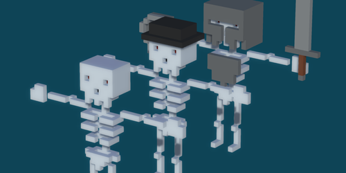 Voxel Skeleton Pack by rubengcdev