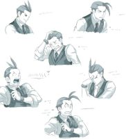 +Apollo Justice - Faces+ by Chinchikurin