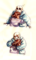 A Hug With Frisk by Lost-Opium