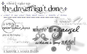 GIMP - Lyrics Brushes - Pack 2 by bookjunkie2