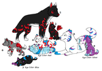 Wolf Family Adoptables 1 by LuxaAdoptables