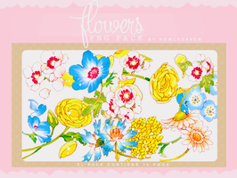 Flores | PNG PACK by HowlHeaven