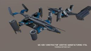 MC-42B 'Constructor' Additive Manufacturing VTOL by Helge129