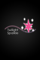 Twilight Sparkle Glow Line iPod/iPhone Wallpaper by AlphaMuppet