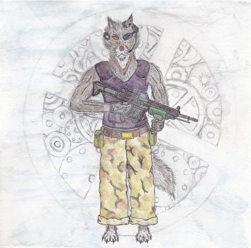 Space Wolf - Johnny Claw by The-Roman-Enthusiast