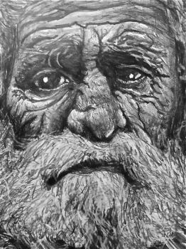 Homeless Old Man Sketch by NWilcox-Artistry