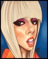 Lady Gaga Caricature. by Grievere