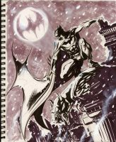 Sketch 13 : Winter in Gotham by Cinar