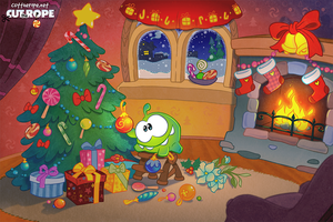 Om Nom is getting into the holiday spirit! by Evelyn2d