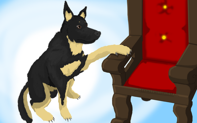 COMMISSION: A dog and his throne by GenmaTheSamurai