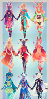 December Adopts : CLOSED : by MMtheMayo