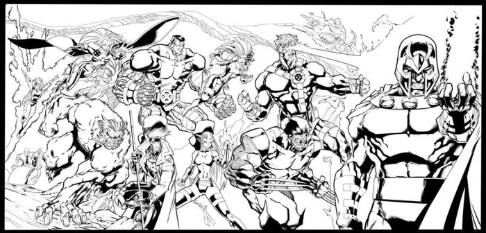 Jim Lee homage by Mike Bowden, inks by Silas Dixon by silasd