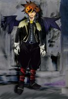 Adult Sora in Halloween Town by wulfiesacolyte